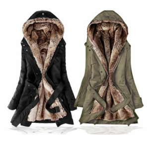 Cotton windbreaker thickening coat ..