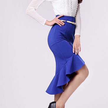 2014 Fashion Skirts Female Ruffle P..