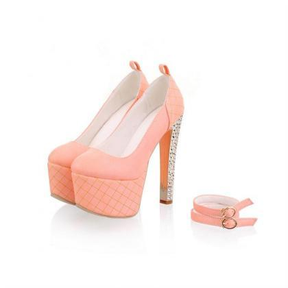 Gorgeous Pink Ankle Strap High Heel..