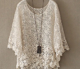 HOLLOW OUT LACE SMOC..