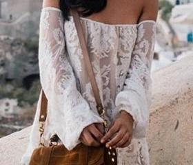 Off Shoulder White L..