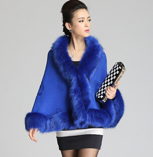 9 Colors Women's Fashion Bat Sleeve V-Neck Faux Fur Coat ,Ladies Casual Free Size Thick Winter Outwear