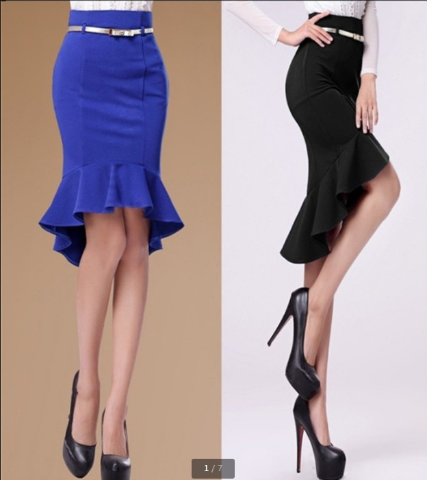 2014 Fashion Skirts Female Ruffle Party OL Long Pencil Skirt