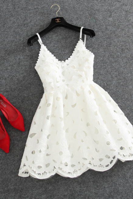 Fashion Straps Lace Dress