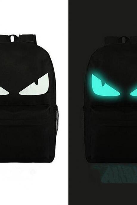 Luminous backpack, large capacity backpack, fashion bag for men and women
