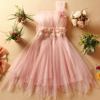 A Short Section Of Fluffy Little Sisters Flower Hem Dress Bridesmaids Dresses Small Host Dress