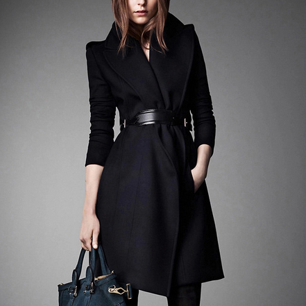 European new wool coat