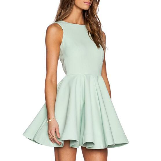 Sweet temperament the back deep V dress